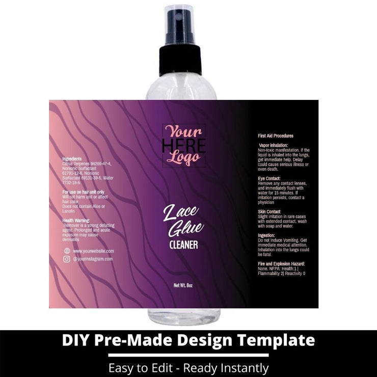 Lace Glue Cleaner Template 1