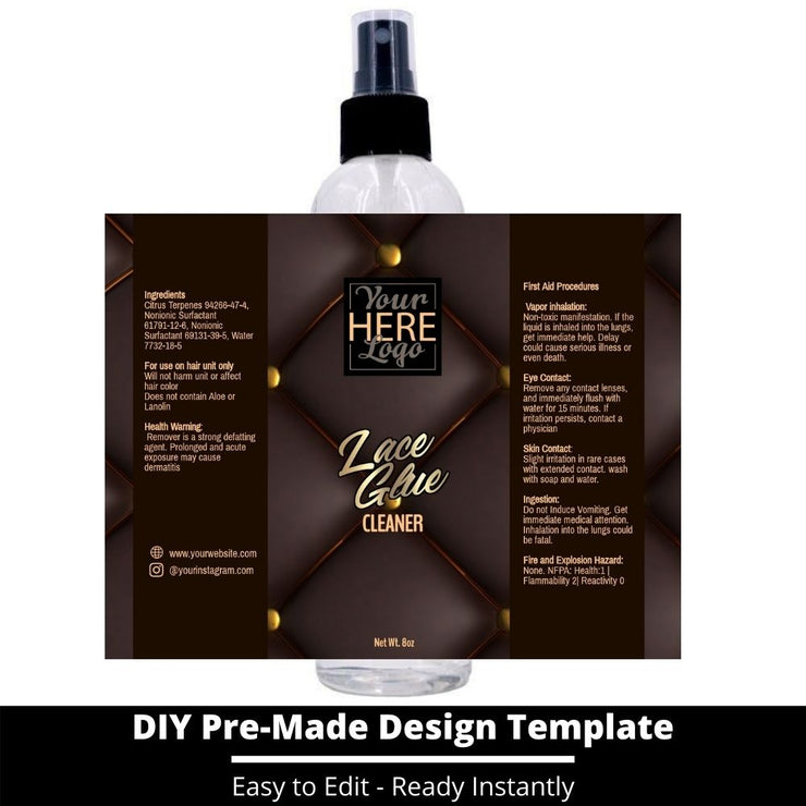 Lace Glue Cleaner Template 101