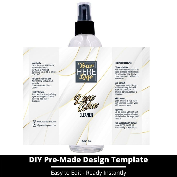 Lace Glue Cleaner Template 103