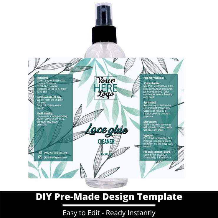 Lace Glue Cleaner Template 107