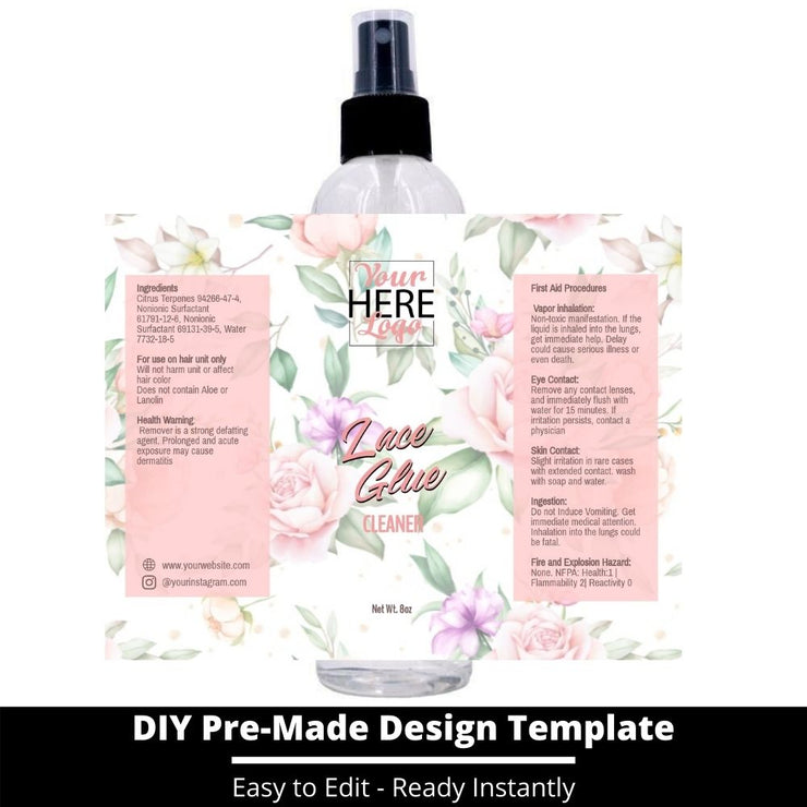 Lace Glue Cleaner Template 108