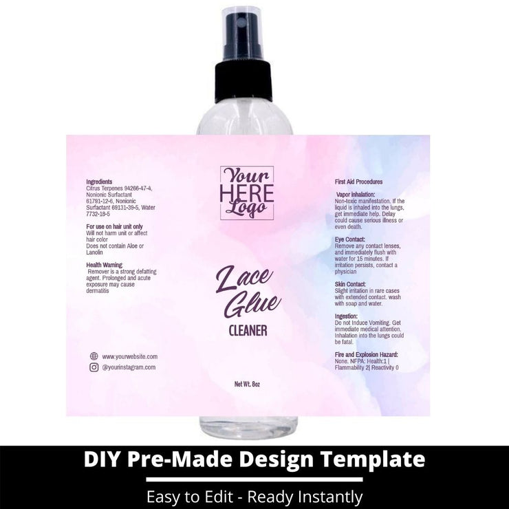 Lace Glue Cleaner Template 112