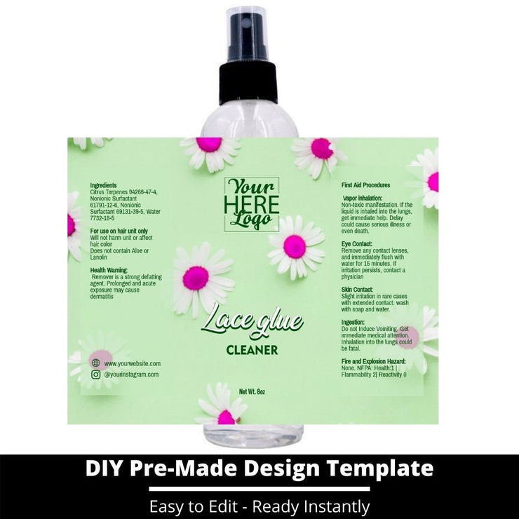 Lace Glue Cleaner Template 124
