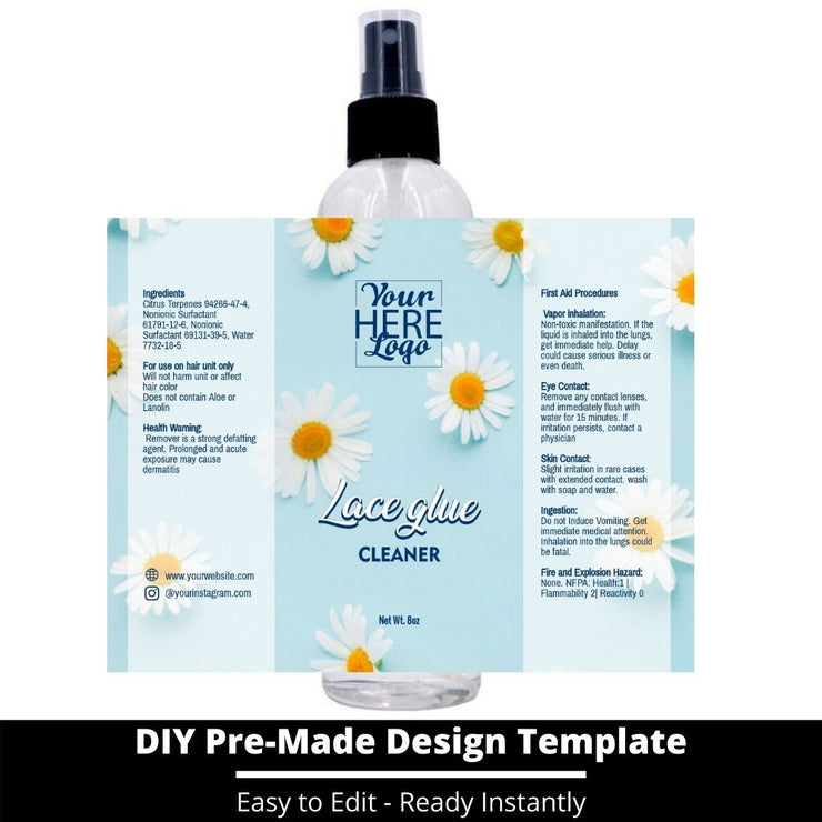 Lace Glue Cleaner Template 125