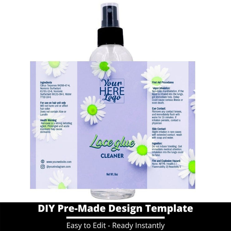 Lace Glue Cleaner Template 126