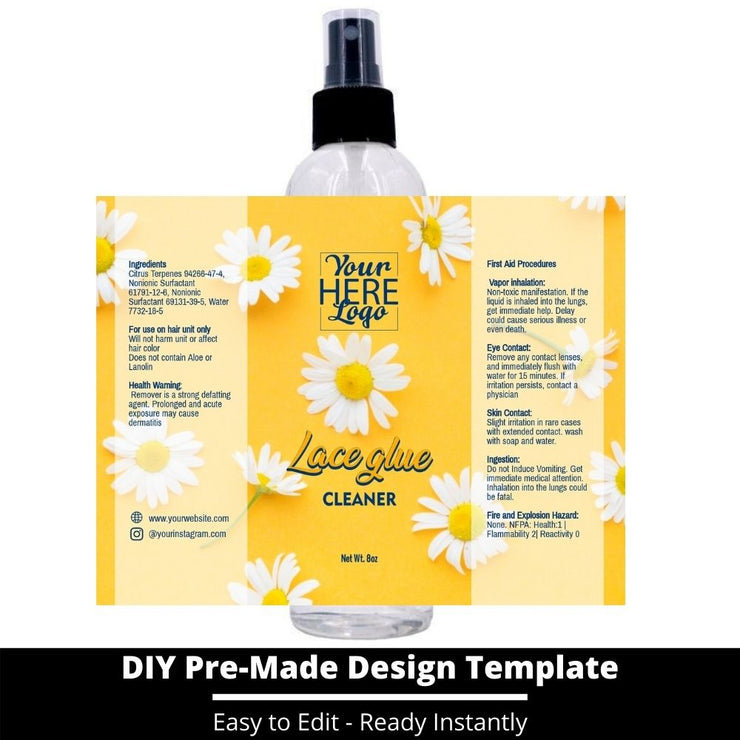 Lace Glue Cleaner Template 127