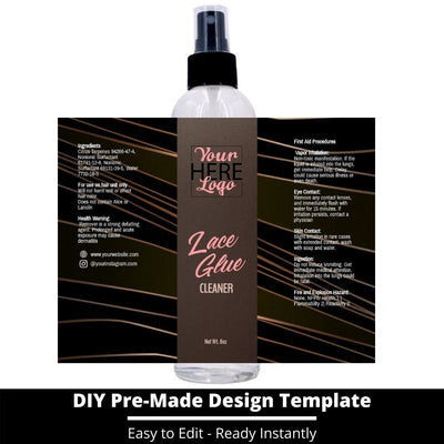 Lace Glue Cleaner Template 12