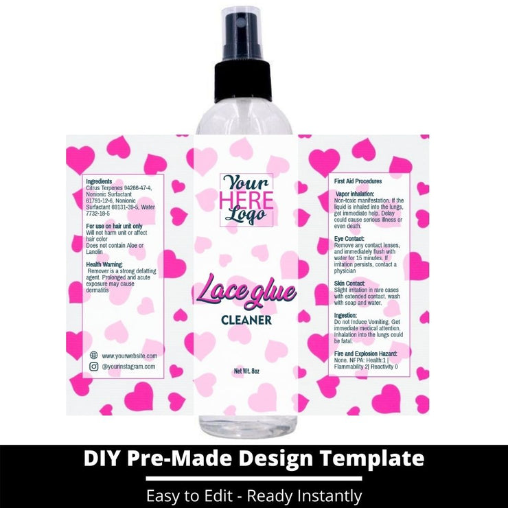 Lace Glue Cleaner Template 134