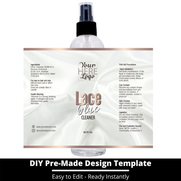 Lace Glue Cleaner Template 138