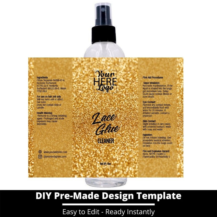 Lace Glue Cleaner Template 140