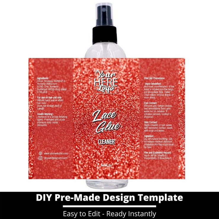 Lace Glue Cleaner Template 141