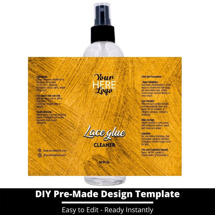 Lace Glue Cleaner Template 150