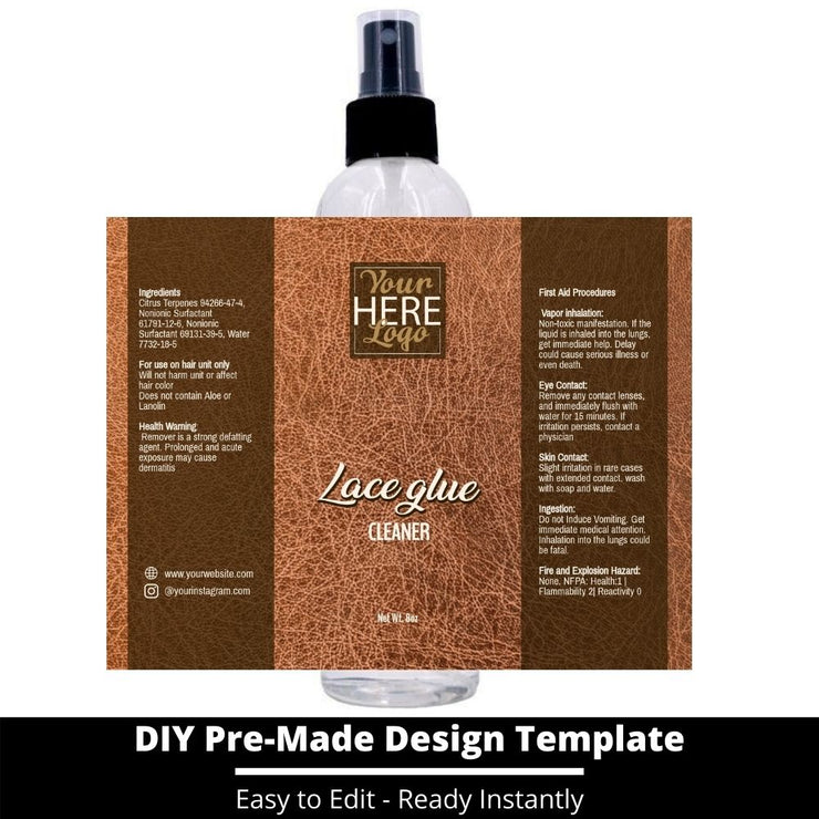 Lace Glue Cleaner Template 159