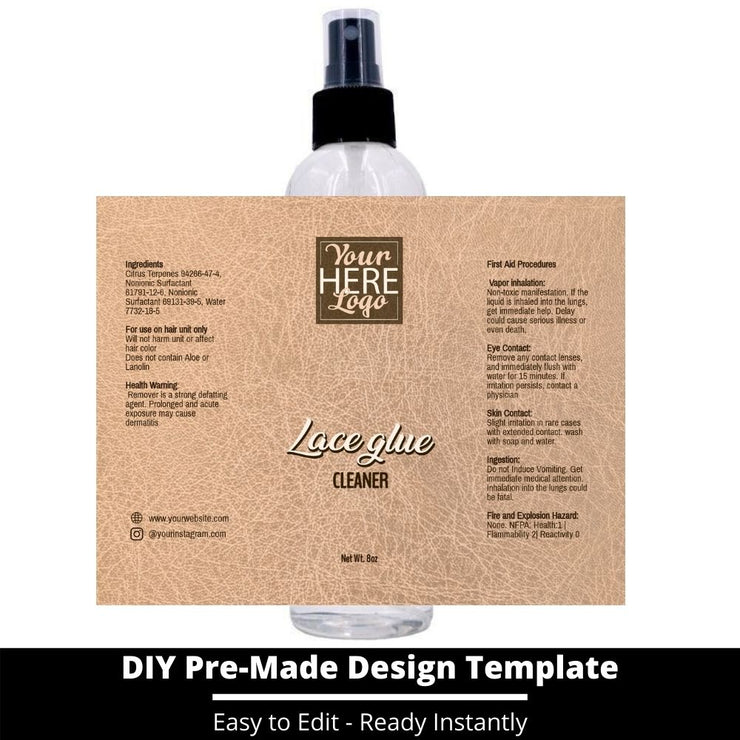 Lace Glue Cleaner Template 160