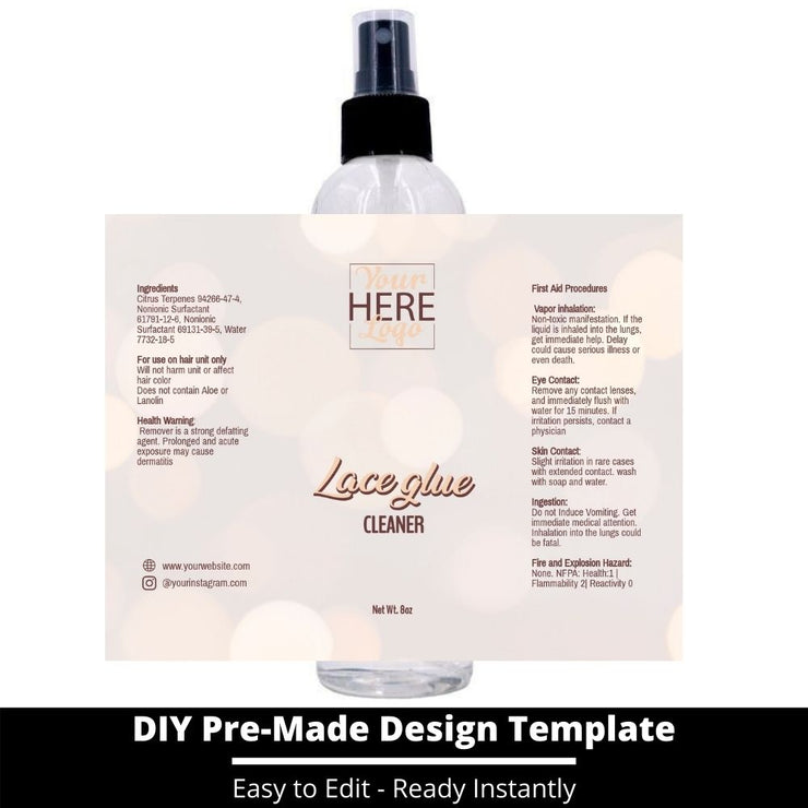 Lace Glue Cleaner Template 165
