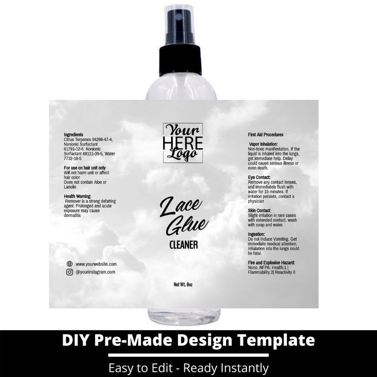 Lace Glue Cleaner Template 167