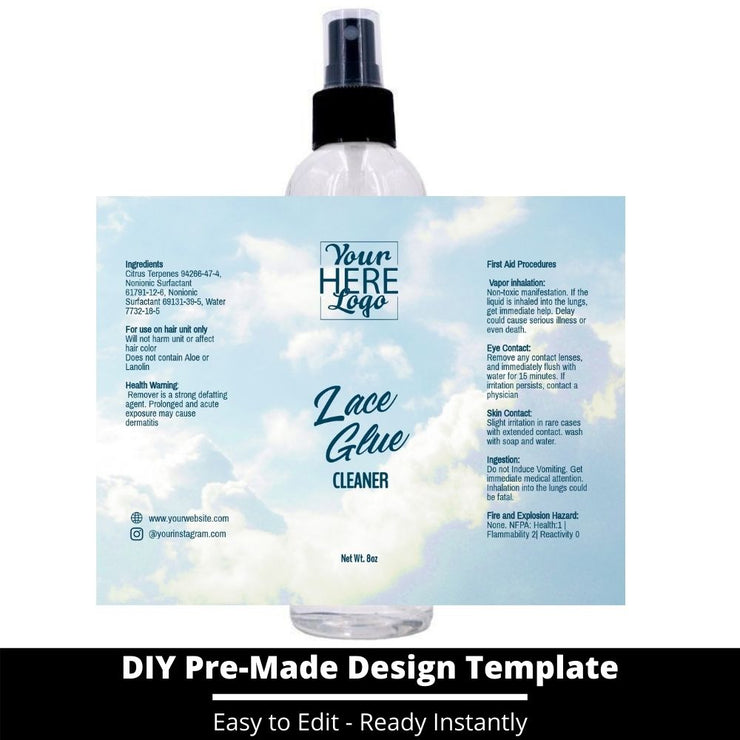 Lace Glue Cleaner Template 168
