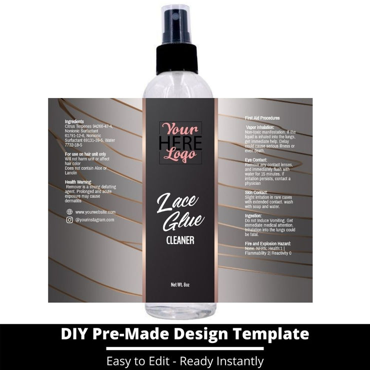 Lace Glue Cleaner Template 16