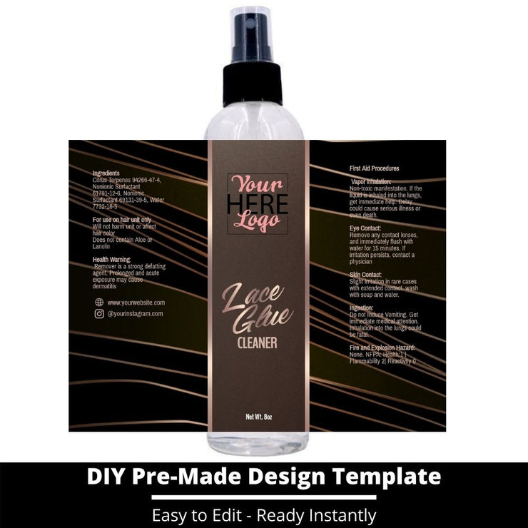 Lace Glue Cleaner Template 18