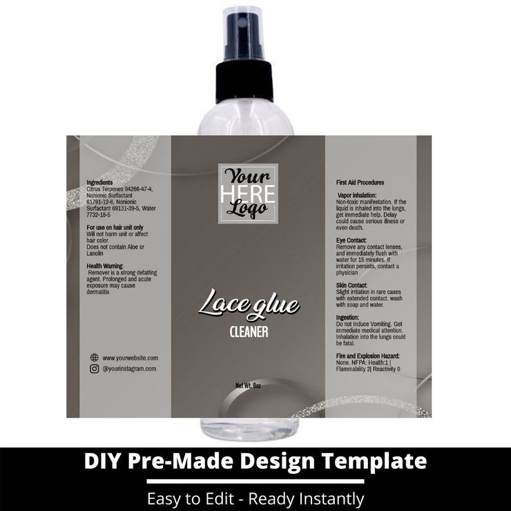 Lace Glue Cleaner Template 195
