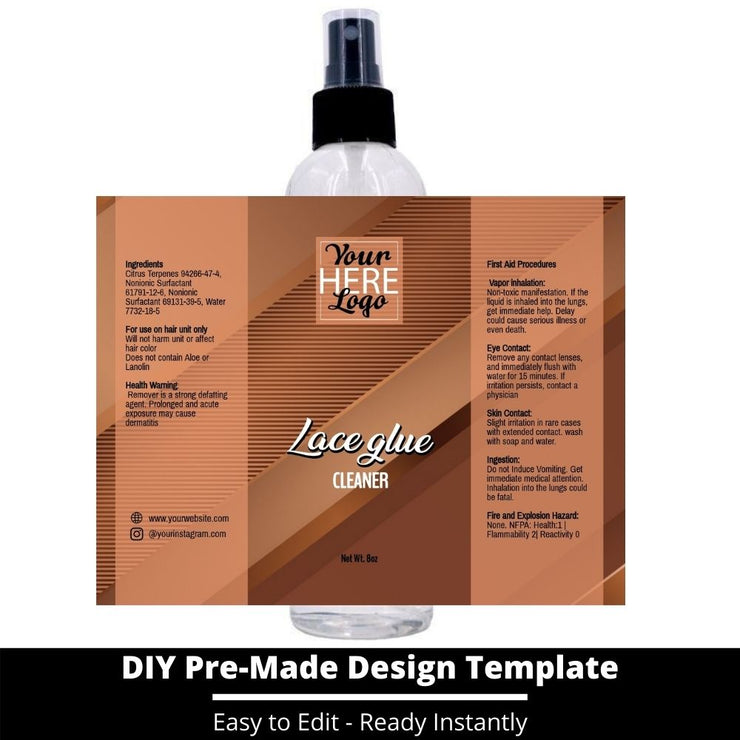 Lace Glue Cleaner Template 196