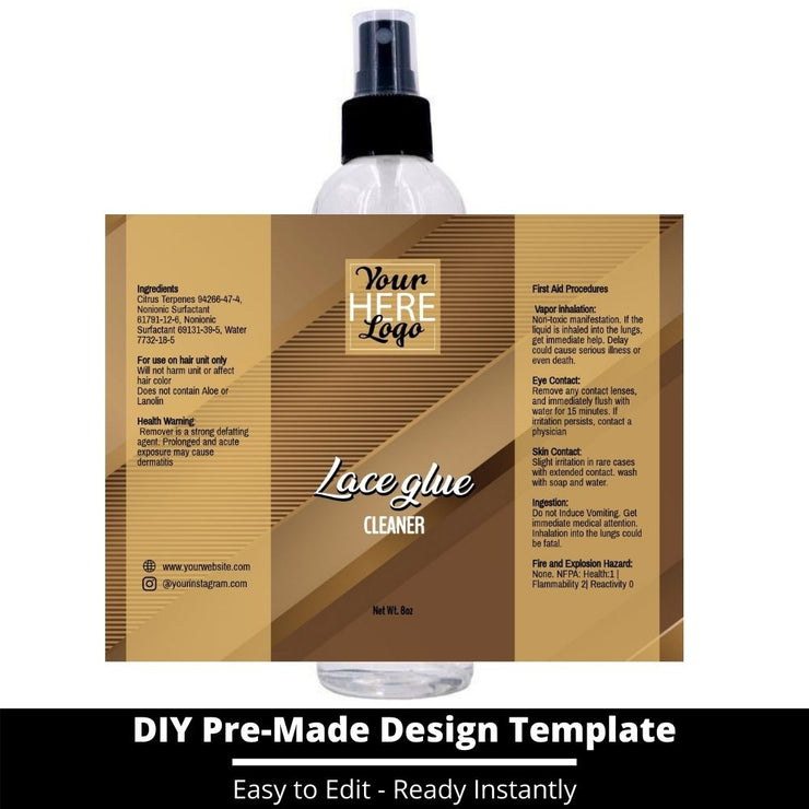 Lace Glue Cleaner Template 197