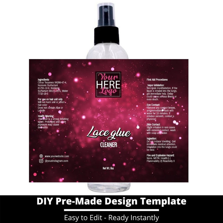 Lace Glue Cleaner Template 206