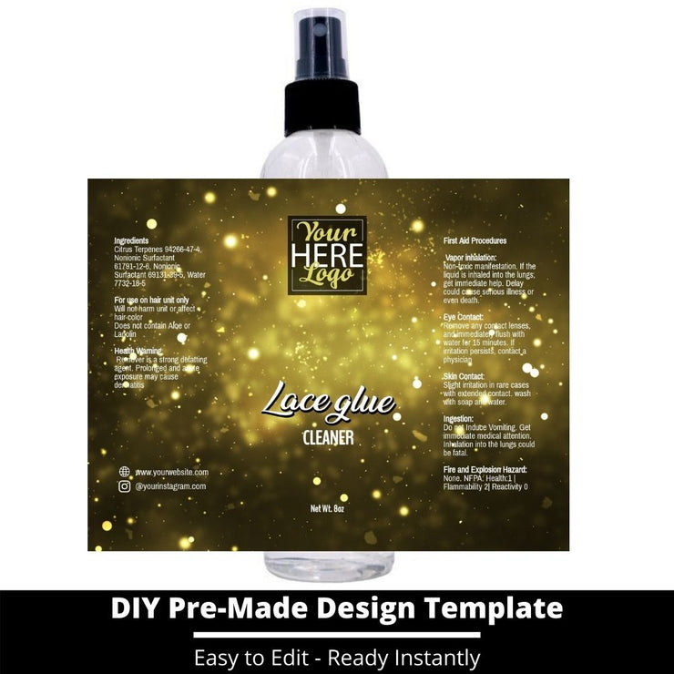 Lace Glue Cleaner Template 207