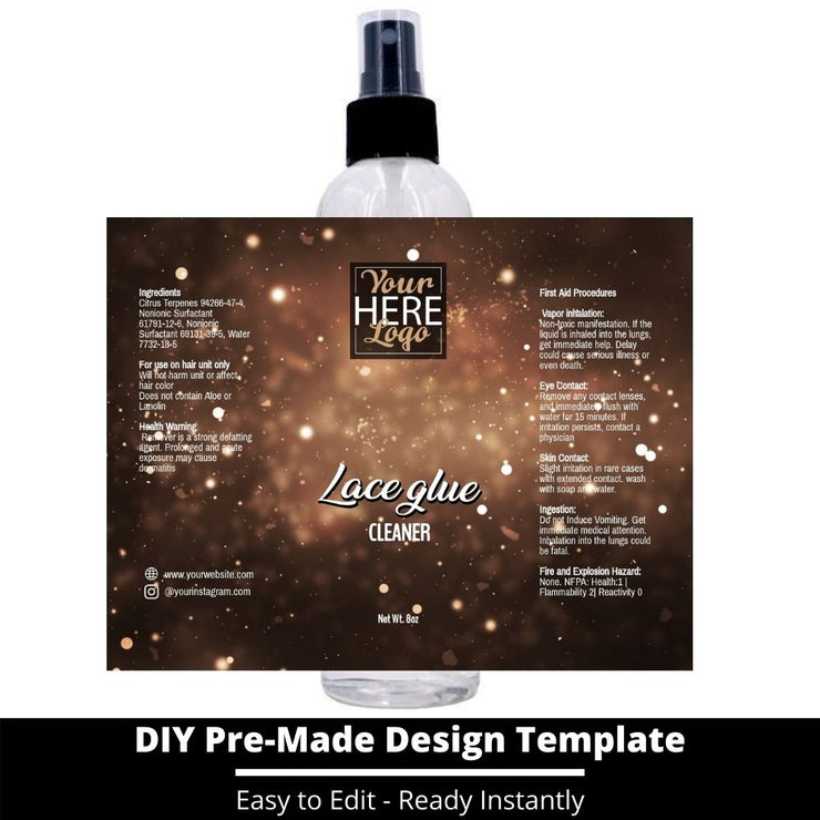 Lace Glue Cleaner Template 208