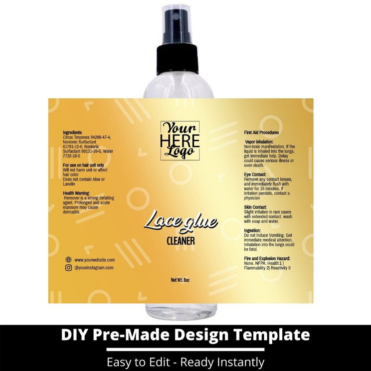 Lace Glue Cleaner Template 212
