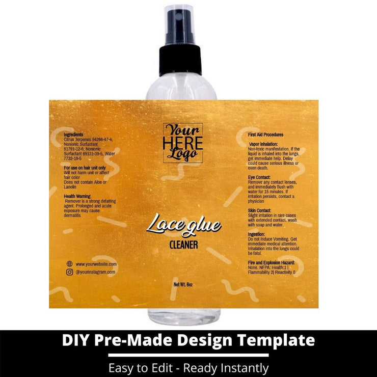 Lace Glue Cleaner Template 213