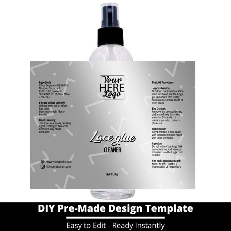 Lace Glue Cleaner Template 224