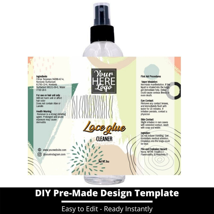 Lace Glue Cleaner Template 239