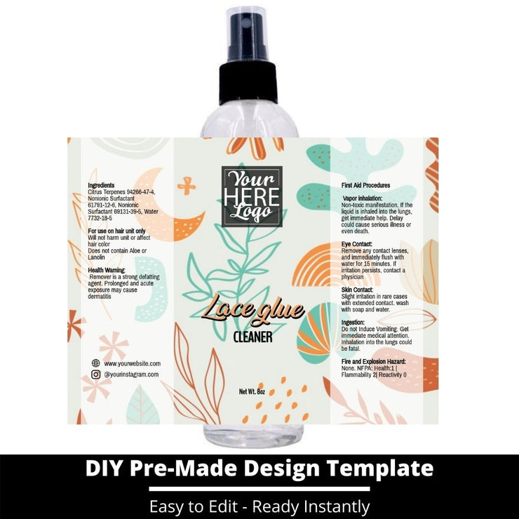 Lace Glue Cleaner Template 240