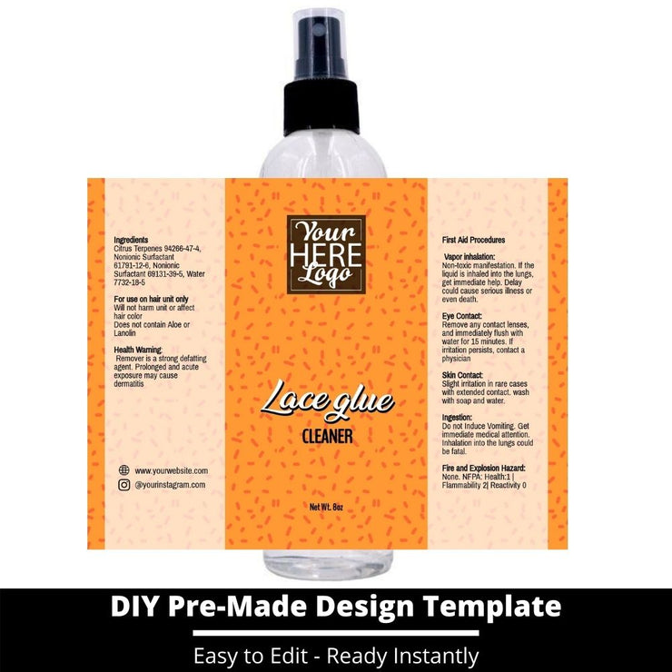 Lace Glue Cleaner Template 244