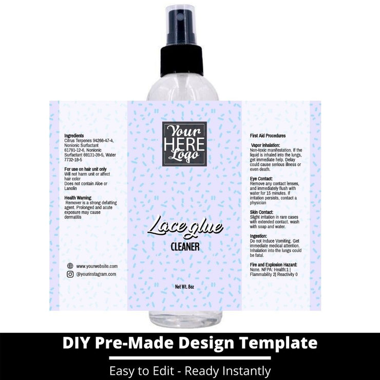 Lace Glue Cleaner Template 246