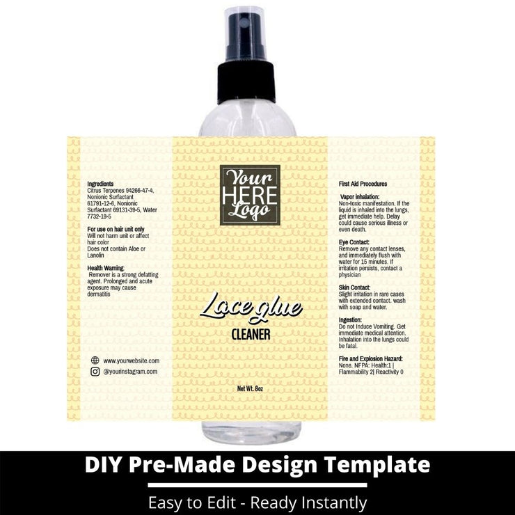 Lace Glue Cleaner Template 248
