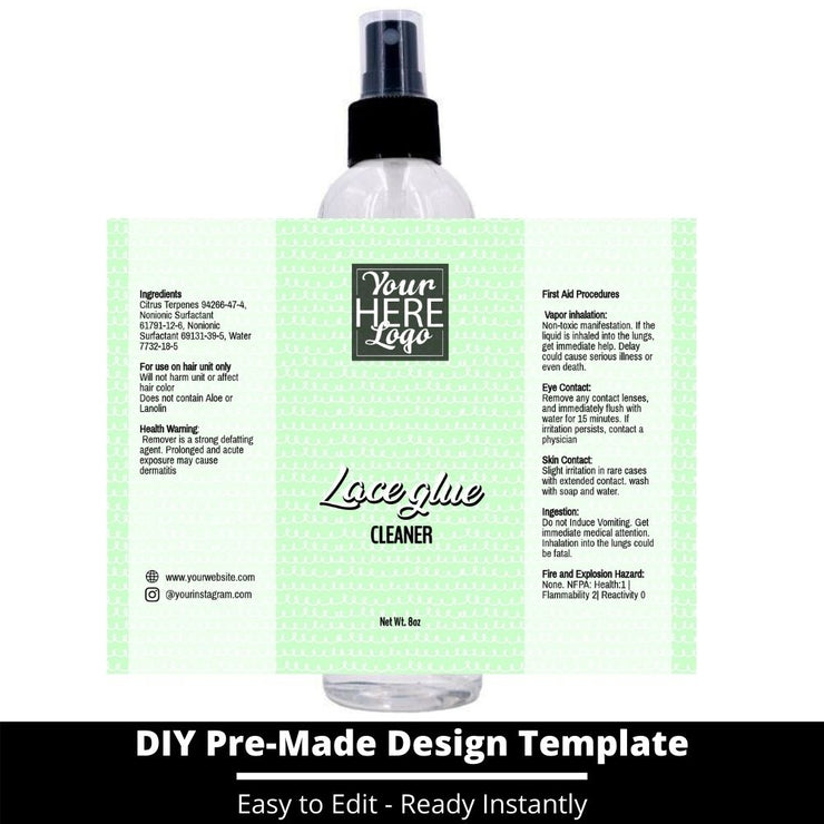 Lace Glue Cleaner Template 249