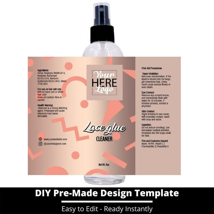Lace Glue Cleaner Template 30