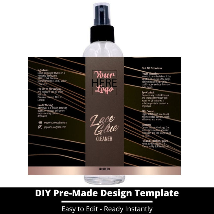 Lace Glue Cleaner Template 33