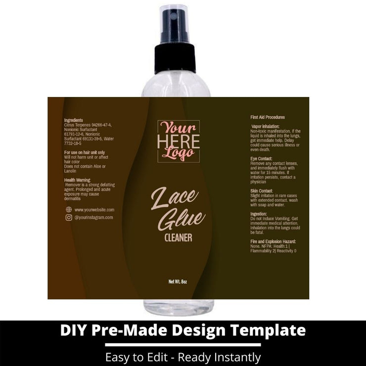 Lace Glue Cleaner Template 37