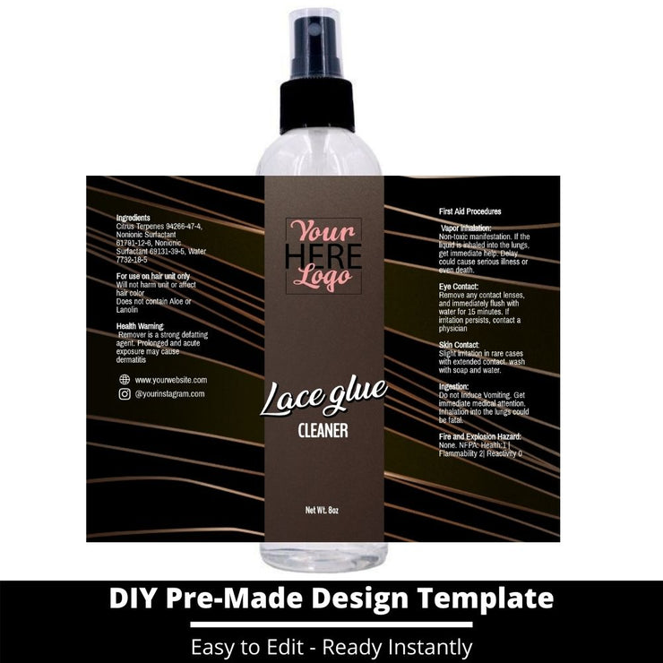 Lace Glue Cleaner Template 38