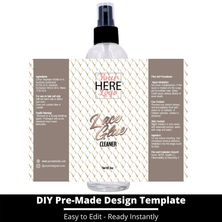 Lace Glue Cleaner Template 40