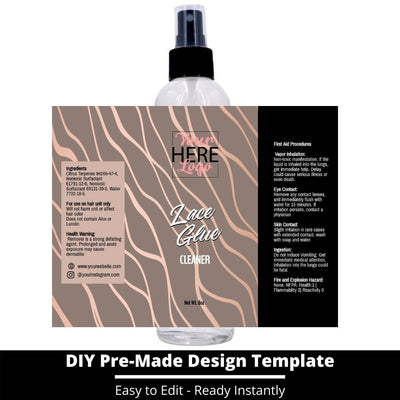Lace Glue Cleaner Template 4