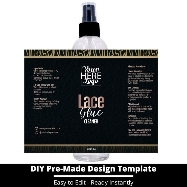 Lace Glue Cleaner Template 50