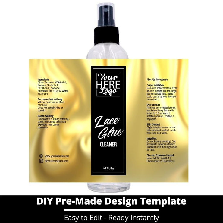 Lace Glue Cleaner Template 62