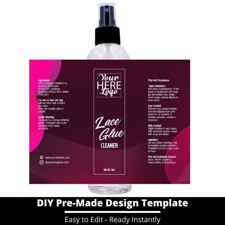 Lace Glue Cleaner Template 65