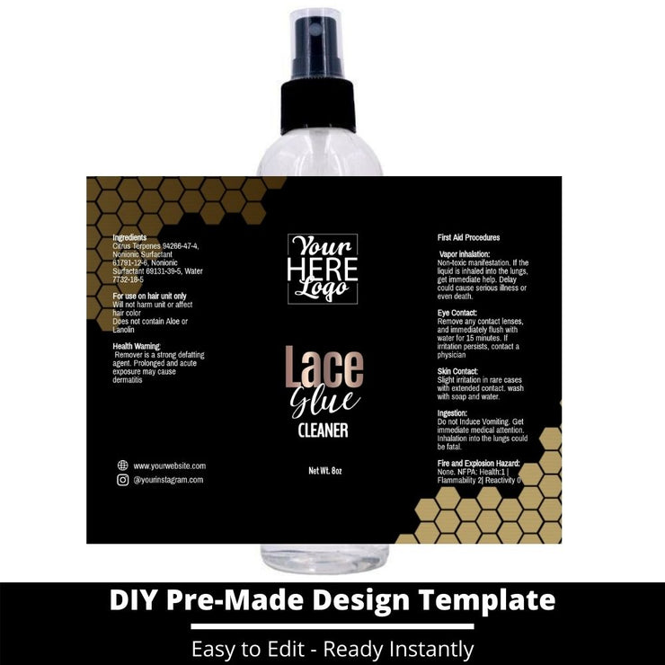 Lace Glue Cleaner Template 71