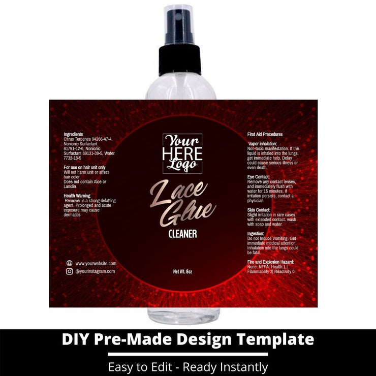 Lace Glue Cleaner Template 76