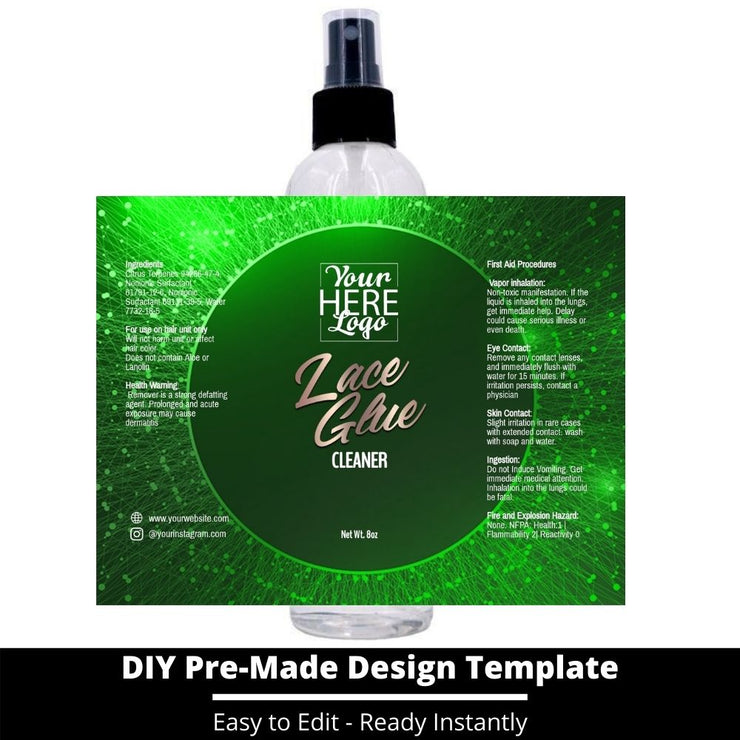 Lace Glue Cleaner Template 77